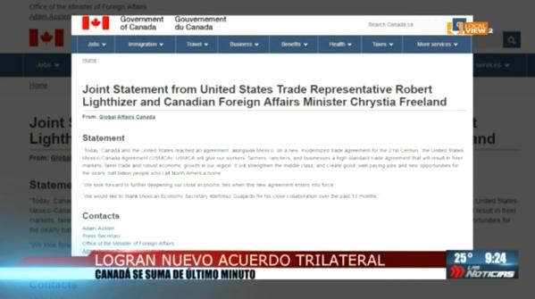 Estas fueron las declaraciones de los Presidentes de Estados Unidos y México, así como del Primer Ministro de Canadá respecto al nuevo #USMCA