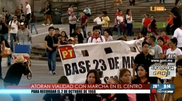 Así se conmemoró el 2 de Octubre en Monterrey y en la Ciudad de México
