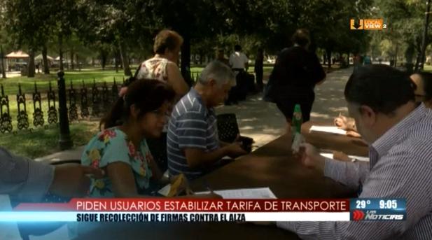 Siguen recolectando firmas contra el incremento a las tarifas de transporte público
