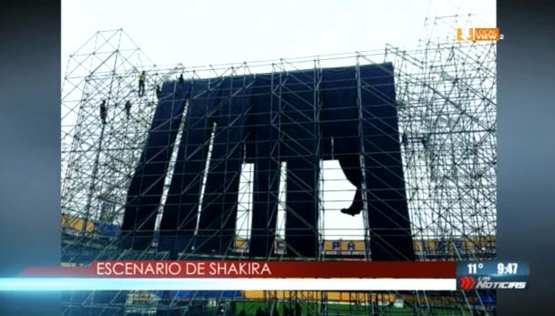 Esta noche se presentará Shakira en el Estadio Universitario