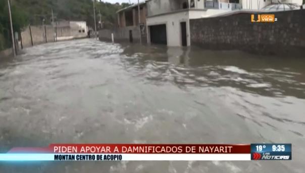 """Reúnen ayuda para los damnificados por el huracán """"Willa"""" en Nayarit"""