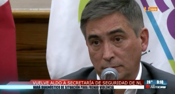 Regresa Aldo Fasci a la Secretaria de Seguridad Pública de Nuevo León