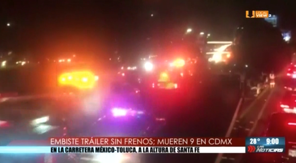 #Video de la tragedia, anoche, en la zona de Santa Fe en la CDMX
