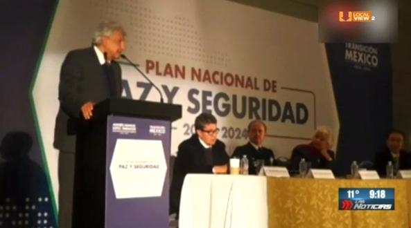 Presenta AMLO Plan Nacional de Paz y Seguridad