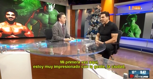 "#Entrevista. Anoche platicamos con @LouFerrigno, ""The Incredible Hulk"""