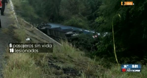 #Crónica del trágico accidente ocurrido ayer en la Carretera Nacional. Seis pasajeros de un autobús perdieron la vida