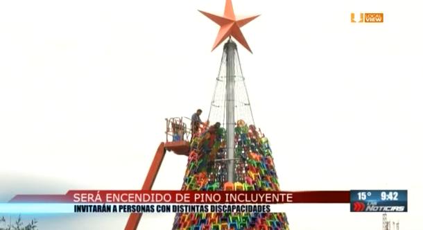 Este domingo encenderán el pino de navidad en la explanada del Museo de Historia Mexicana