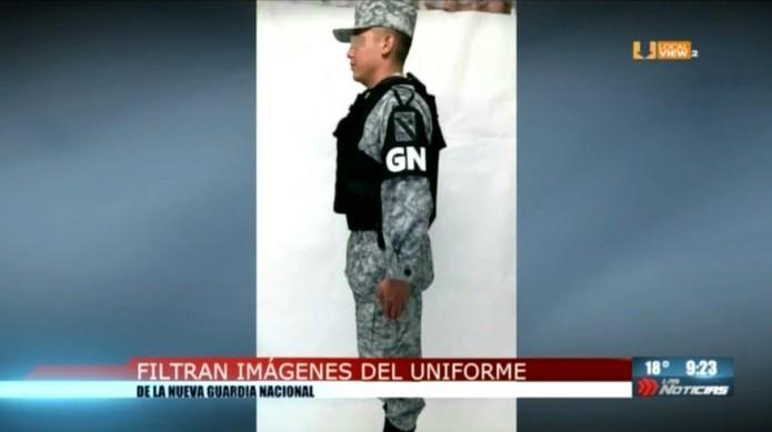 Filtran imágenes del uniforme de la Guardia Nacional