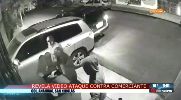#Video de la agresión a comerciante en la colonia Anáhuac, al evitar un asalto en su domicilio