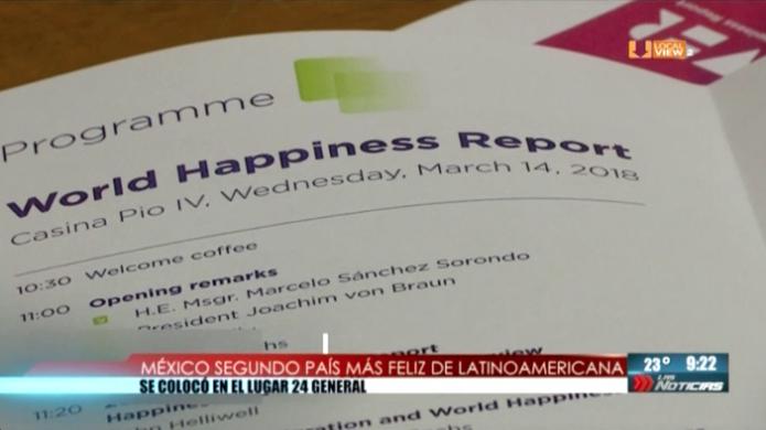 México segundo país más feliz de Latinoamérica