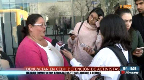 #NoAlTarifazo. Los activistas que fueron arrestados en Palacio de Gobierno presentaron una queja ante la CEDH