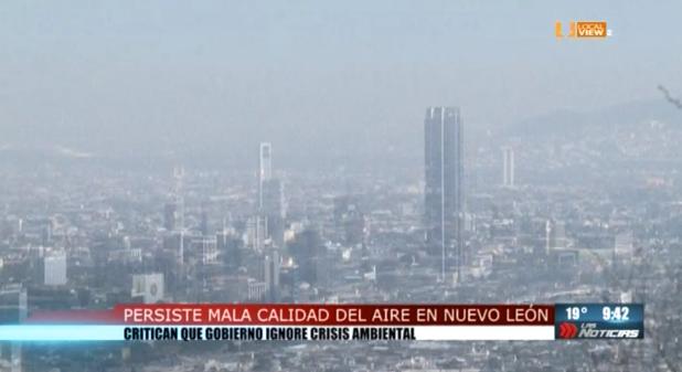 Persiste la mala calidad del aire en la zona metropolitana de Monterrey y no hay acciones al respecto