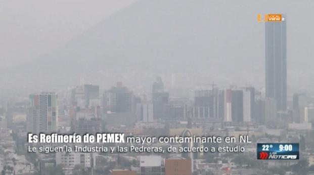 La refinería de Pemex en Cadereyta es uno de los principales contaminantes de la zona metropolitana de Monterrey