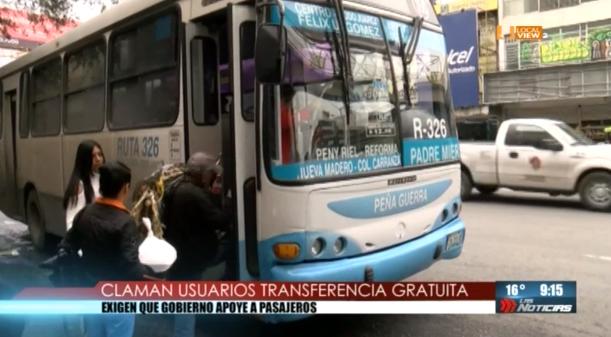 Insisten empresarios del transporte en eliminar las transferencias gratuitas
