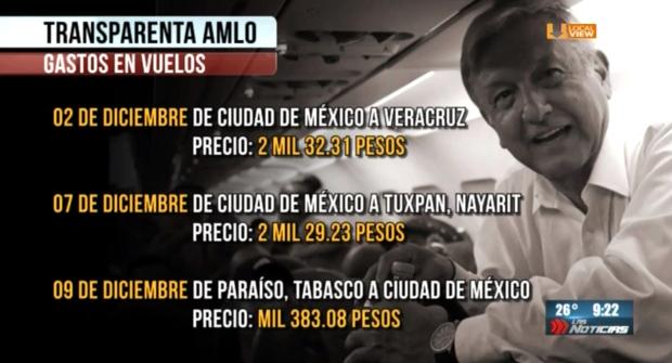 Transparentan el costo de los boletos de avión del Presidente. ¿Qué esperan los demás gobernantes?
