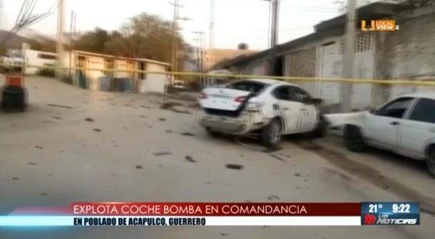 Estalla coche bomba muy cerca de una comandancia de policía en Guerrero