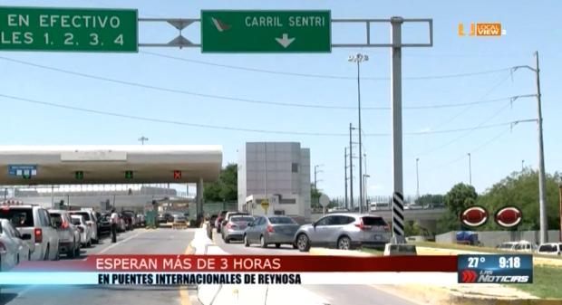 Saturados los puentes internacionales de Anzaldúas y Reynosa