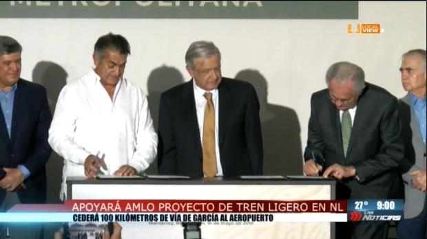 Anuncia AMLO tren suburbano para Nuevo León