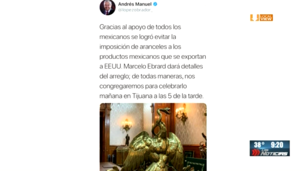 Aquí los detalles del acuerdo entre México y Estados Unidos, con el que se suspende la imposición de aranceles