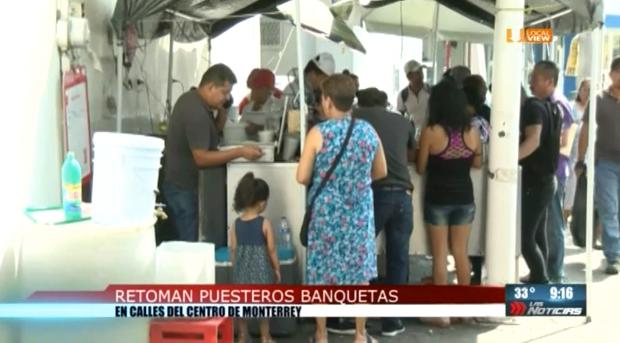 Regresan los comerciantes informales al centro de Monterrey